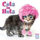 Cats in Hats 2018 Mini Wall Calendar