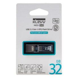 【KLEVV】NEO D40 USB3.2 Gen1 USB Type-A & Type-C 32GB