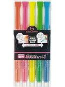 蛍光ペン 蛍光スパーキー1 5色セット