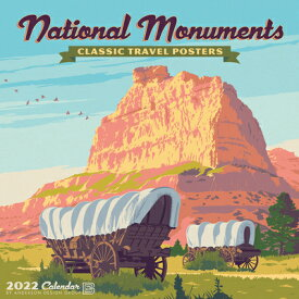 National Monuments Art Posters 2022 Wall Calendar NATL MONUMENTS 2022 WALL CAL [ Anderson Design Group ]