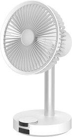 BLUEFEEL BARSET 4D FAN 多機能コードレス卓上扇風機&サーキュレーター ホワイト