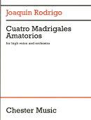 【輸入楽譜】ロドリーゴ, Joaquin: 4つの愛のマドリガル〜高声とオーケストラのための