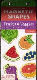 【バーゲン本】Wooden MAGNETIC SHAPES Fruits & Veggies
