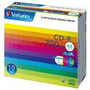 CD-R 700MB 10枚スリム・IJP白ワイド