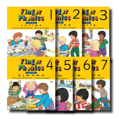 Finger Phonics, Books 1-7: In Print Letters FINGER PHONICS BKS01-07-7PK [ Sue Lloyd ]
