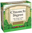 Church Signs 2019 Day-To-Day Calendar
