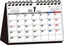 書き込み式月曜始まりシンプル卓上カレンダー(A5ヨコ)(2019年)