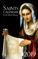 2019 Saints Calendar & 16 Month Daily Planner