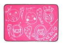 NYLON JAPAN × ももいろクローバーZ 特製フリース/メンバー直筆似顔絵イラストバージョン(ピンク)
