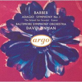 バーバー:弦楽のためのアダージョ、交響曲第1番、他 [ デイヴィッド・ジンマン ]