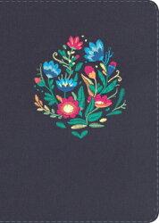 Rvr 1960 Biblia Compacta Letra Grande Bordado Sobre Tela