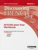 Discovering French Today!: French 3 Rouge: Activites Pour Tous