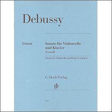 【輸入楽譜】ドビュッシー, Achille-Claude: チェロとピアノのためのソナタ ニ短調/原典版