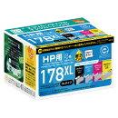 HP178XL対応 リサイクルインクカートリッジ 4色セット ECI-HP178XLV-4P エコリカ