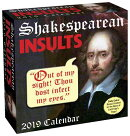 Shakespearean Insults 2019 Day-To-Day Calendar