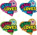 Jesus Loves Me Dazzle(tm) Stickers