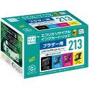 ブラザー「PRIVIO」用 LC213-4PK互換リサイクルインクカートリッジ お買い得4色パック ECI-BR213-4P エコリカ