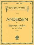 【輸入楽譜】アンデルセン, Joachim: 18の練習曲 Op.41