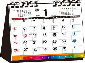 書き込み式シンプル卓上インデックスカレンダー(B6ヨコ)(2020年) ([カレンダー])