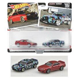 ホットウィール(Hot Wheels) ホットウィール プレミアム 2パック ニッサン・スカイライン GT-R BNR32 HBL97