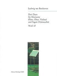 【輸入楽譜】ベートーヴェン, Ludwig van: クラリネットとバスーンのための二重奏曲 WoO.27