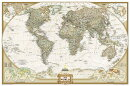 National Geographic: World Executive Wall Map (36 X 24 Inches)