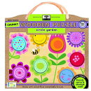 Green Start Circle Garden Chunky Wooden Puzzle: Earth Friendly Puzzles with Handy Carry & Storage Ca