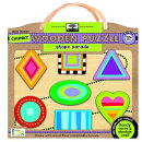 Green Start Shape Parade Chunky Wooden Puzzle: Earth Friendly Puzzles with Handy Carry & Storage Cas