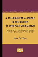A Syllabus for a Course in the History of European Civilization