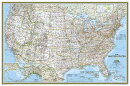 National Geographic: United States Classic Wall Map (36 X 24 Inches)