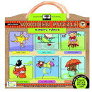 Green Start Nursery Rhymes Wooden Puzzle: Earth Friendly Puzzles with Handy Carry & Storage Case