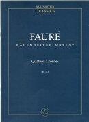 【輸入楽譜】フォーレ, Gabriel-Urbain: 弦楽四重奏曲 Op.121/原典版/Sobaskie: スタディ・スコア