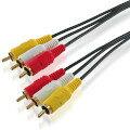 3M ビデオケーブル オスーオス(赤 白 黄) 3RCA-MM-3M