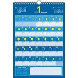 月の満ち欠けカレンダーB4タテ(2020年) ([カレンダー])