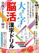 大きな字の脳活漢字ドリル(春夏号)