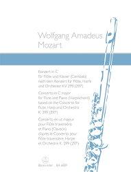 【輸入楽譜】モーツァルト, Wolfgang Amadeus: フルートとハープのための協奏曲 ハ長調 KV 299/新モーツァルト全集…