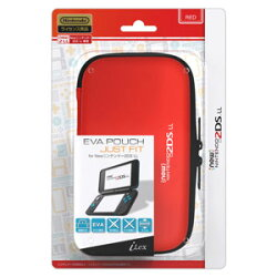 EVA POUCH JUST FIT for new ニンテンドー 2DS LL レッド