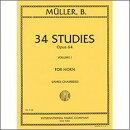 【輸入楽譜】ミュラー, Ivan: 34の練習曲集 Op.64 第1巻