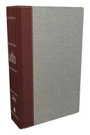 The NKJV, Open Bible, Cloth Over Board, Gray/Red, Red Letter Edition, Comfort Print: Complete Refere