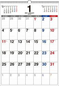 2021年 書き込み式 月曜始まり シンプルカレンダー B3タテ【K12】 [ 永岡書店編集部 ]
