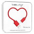 happy plugs Lightningケーブル 2.0m Apple認証 レッド LIGHTNING-USB-CABLE-RED9901