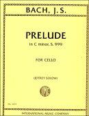 【輸入楽譜】バッハ, Johann Sebastian: 前奏曲 ハ短調 BWV 999 (チェロ・ソロ)/Solow編