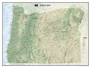 National Geographic: Oregon Wall Map (40.5 X 30.25 Inches)