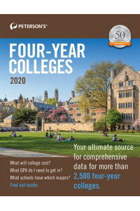 Four-YearColleges20204-YEARCOLLEGES202050/E[Peterson's]