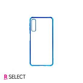 Galaxy A7 TPUフレームケース メタリックブルー