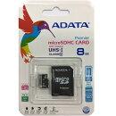 ADATA microSDHC Class10 8GB アダプタ付