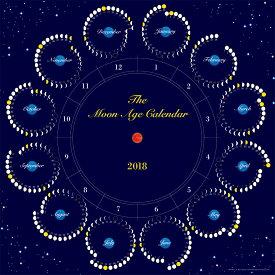 月のカレンダー The Moon Age Calendar 2018