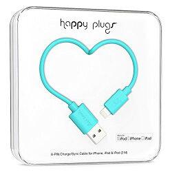 happy plugs Lightningケーブル 2.0m Apple認証 ターコイズ LIGHTNING-USB-CABLE-TURQUOISE9906