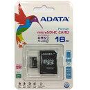 ADATA microSDHC Class10 16GB アダプタ付