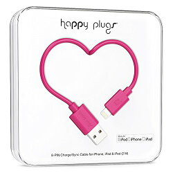 happy plugs Lightningケーブル 2.0m Apple認証 チェリー LIGHTNING-USB-CABLE-CERISE9907